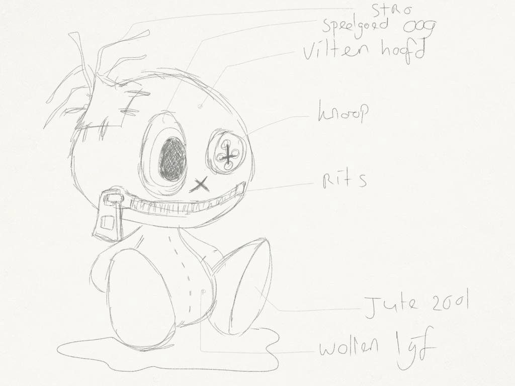 Character study 'Wreckdoll' - Schets 2